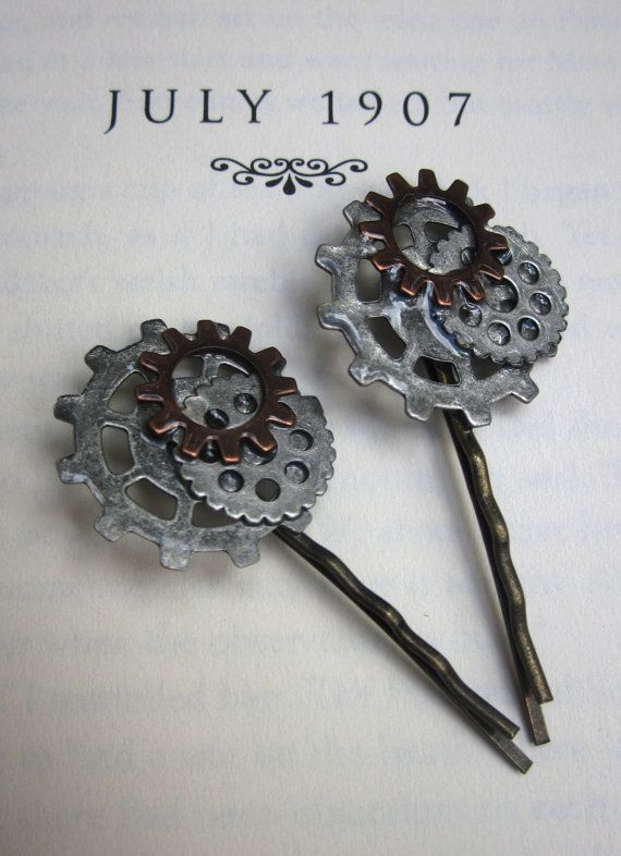 Victorian Steampunk Hair Pins by AmbivalentRelics on Etsy, $10.00