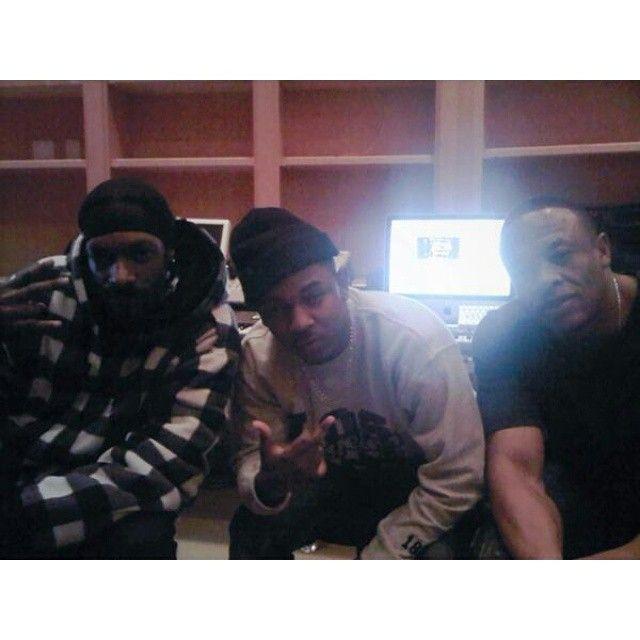 Snoop Dogg Kendrick Lamar And Dr Dre In Studio