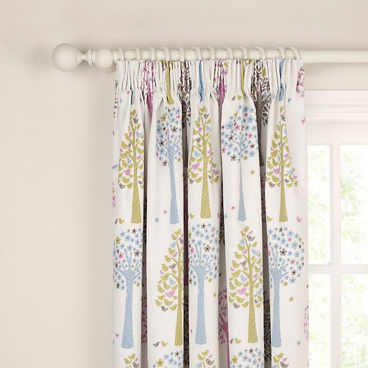 Buy little home at John Lewis Magic Trees Blackout Lined Pencil Pleat Curtains, Multi, W165 x Drop 137cm Online at johnlewis.com