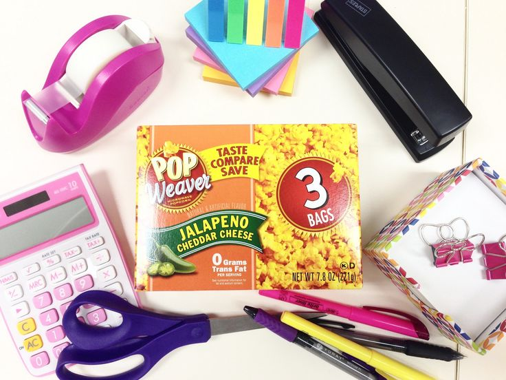 As far as we're concerned, Pop Weaver popcorn is a necessary office supply. #jalapenocheddar #cheeseplease