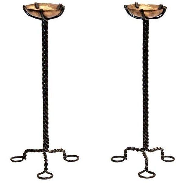 Twisted Steel und Copper Candlesticks – Pair ($ 500) ❤ gefällt auf Polyvore featur …
