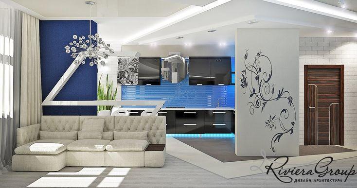 Портфолио: «Неоновый всплеск» - дизайн квартиры в стиле конструктивизм