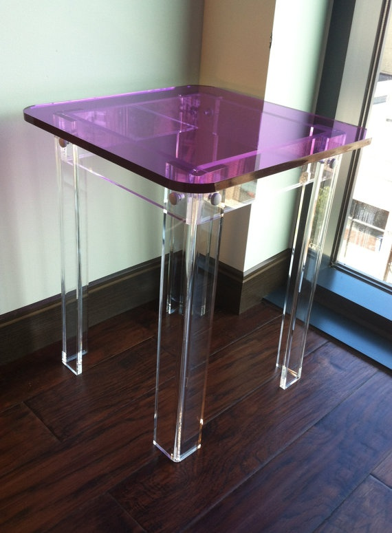 Acrylic Side Tables Picture   More Detailed Picture About ONE LUX Square Top  Acrylic Side Table Colored, Lucite Corner Table KD Packing,Perspex Living  Room ...
