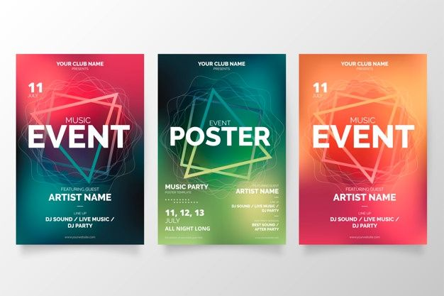Download Modern Music Event Poster Collection For Free In 2020 Event Poster Music Event Modern Music