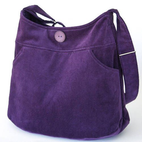"Bag Inspiration- This link takes you to all sorts of great bag inspiration -This purple purse is from the ""Skirt Bag"" Pattern by keyka lou"