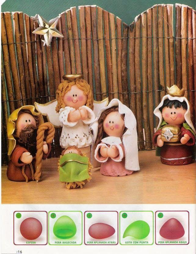 Más de 1000 imágenes sobre Navidad Porcelana fria, porcelanicron ...
