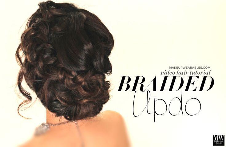 Schnelles DIY Haar Tutorial Video. Erfahren Sie, wie man ein voluminöses, geflochtenes Brötchen macht ... - Haar-Tutorials - # Bun #DIYH ...