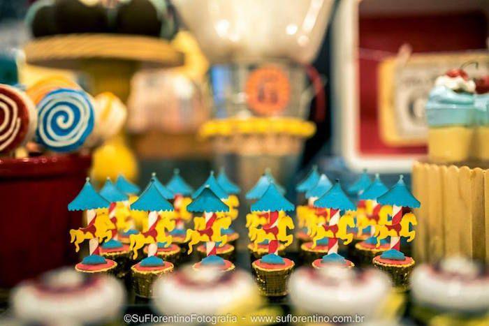 Carousel Cupcakes from a Vintage Carnival + Amusement Park Party via Kara's Party Ideas | KarasPartyIdeas.com (7)