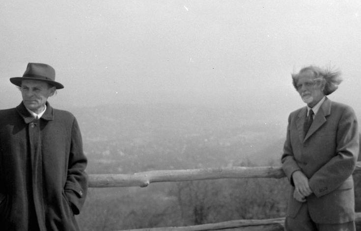 Yehudi Menuhin hegedűművész és Kodály Zoltán zeneszerző.