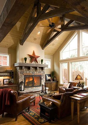 Small timber great room