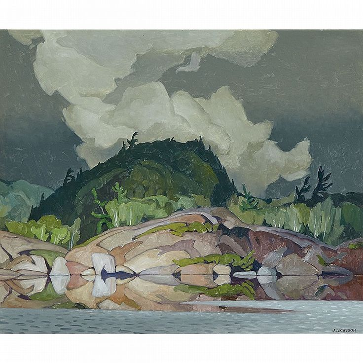 A.J. Casson - Weather Change 20 x 24 Oil on Masonite (1967)