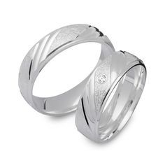 925 Eheringe: Silbertrauringe Gravur Zirkonia R8501s…