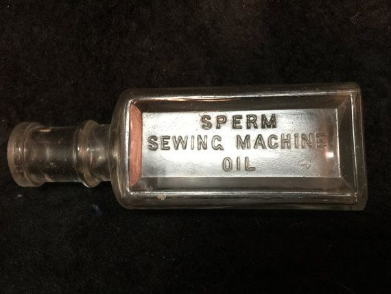 Sperm whale sewing machine bottle