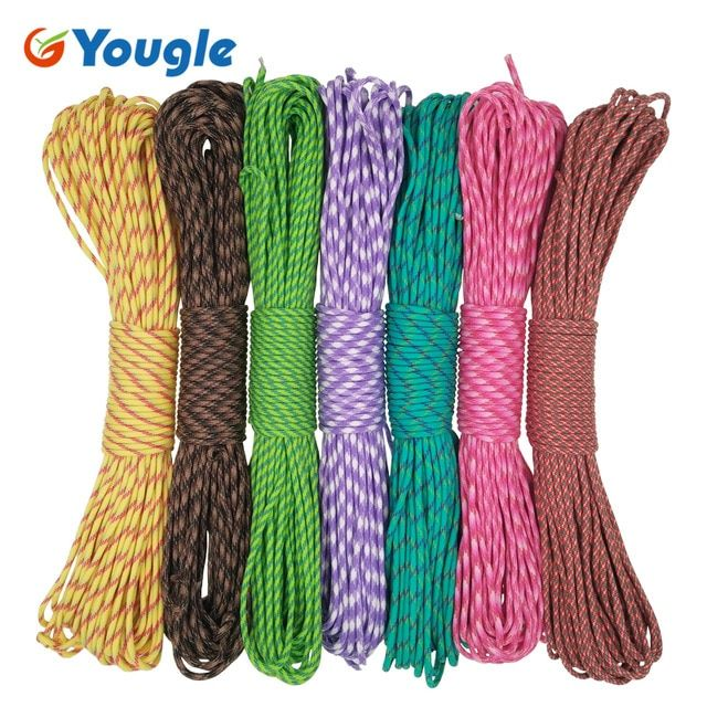 Yougle Paracord 550 Parachute Cord Lanyard Rope Mil Spec Type Iii