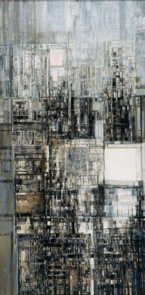 VIEIRA DA SILVA New Amsterdam II, 1970 óleo s/ tela 195 x 97 cm Col. Jorge de Brito, em depósito na Fundação Arpad Szenes-Vieira da Silva (http://fasvs.pt/coleccao/acercaimage/113)