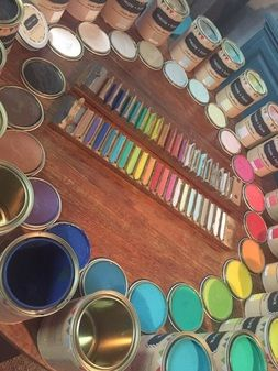 Mezzie & Frank Chalk Effects Paint Range - Introductory Classes held at Vast Interior Townsville