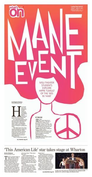 Mane Event  #Newspaper #Design #Layout #GraphicDesign