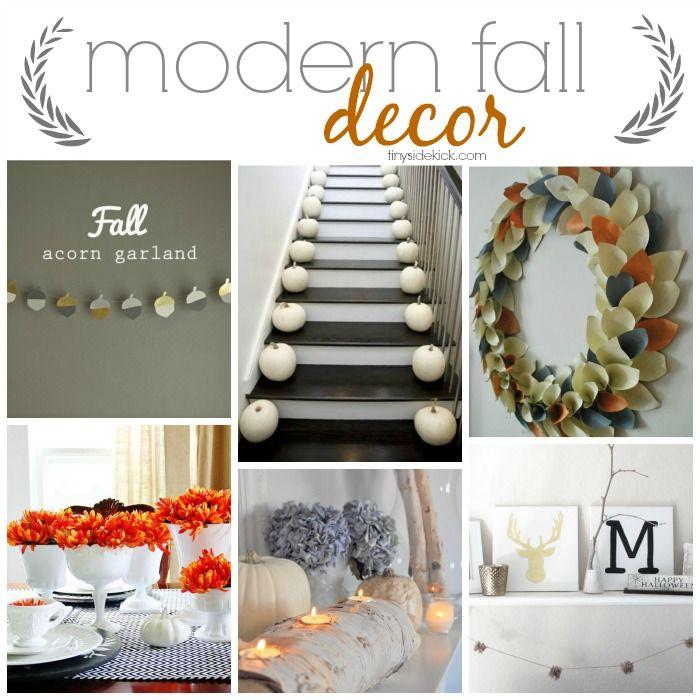 Modern Fall Decor Ideas #fall #modernstyle
