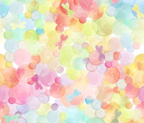 Glee fabric by kayajoy on Spoonflower - custom fabric: Watercolor, Patterns Fabrics, Prints Patterns, Butterflies, Custom Fabrics, Pastel Color Fabrics, Art Design Patterns Hooray, Fabrics Design, Glee Fabrics