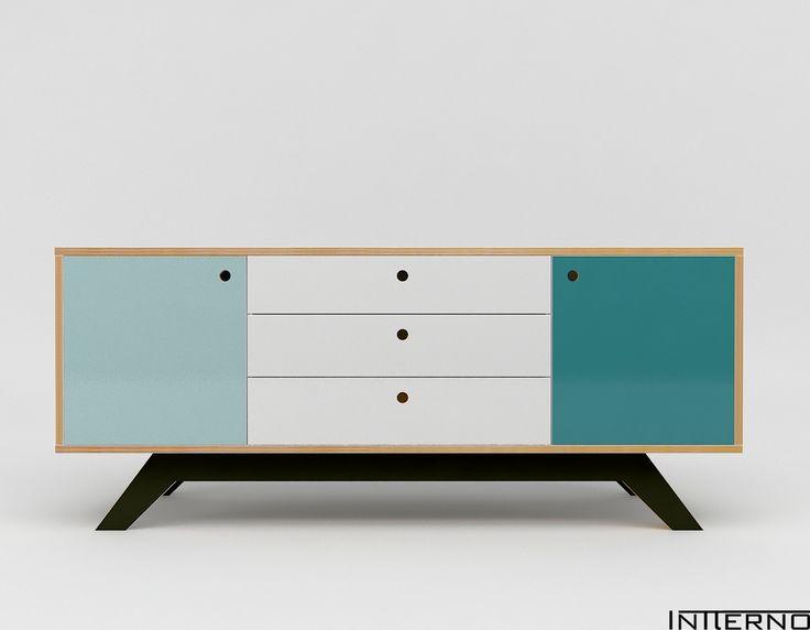 komoda ze sklejki Intterno plywood furniture, meble ze sklejki #intterno #plywoodcupboard