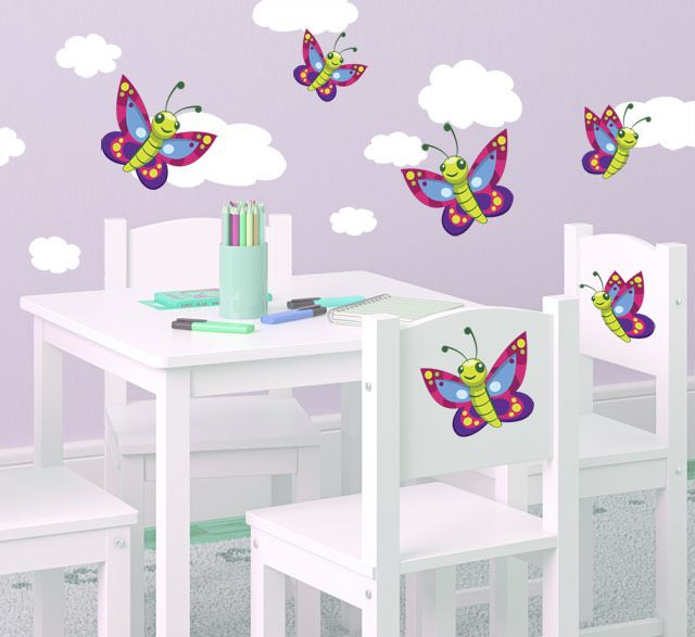 26 best cloud wall decals mural ideas images on for Butterfly mural ideas