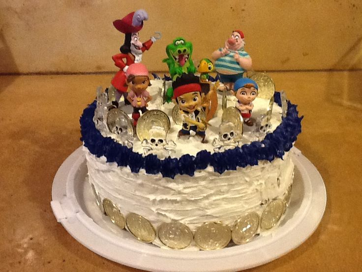 birthday cake fourth birthday pirate party birthday cakes birthday ...