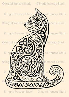 celtic cat 8 black ivory tattoo idears pinterest celtic white ink and cats. Black Bedroom Furniture Sets. Home Design Ideas