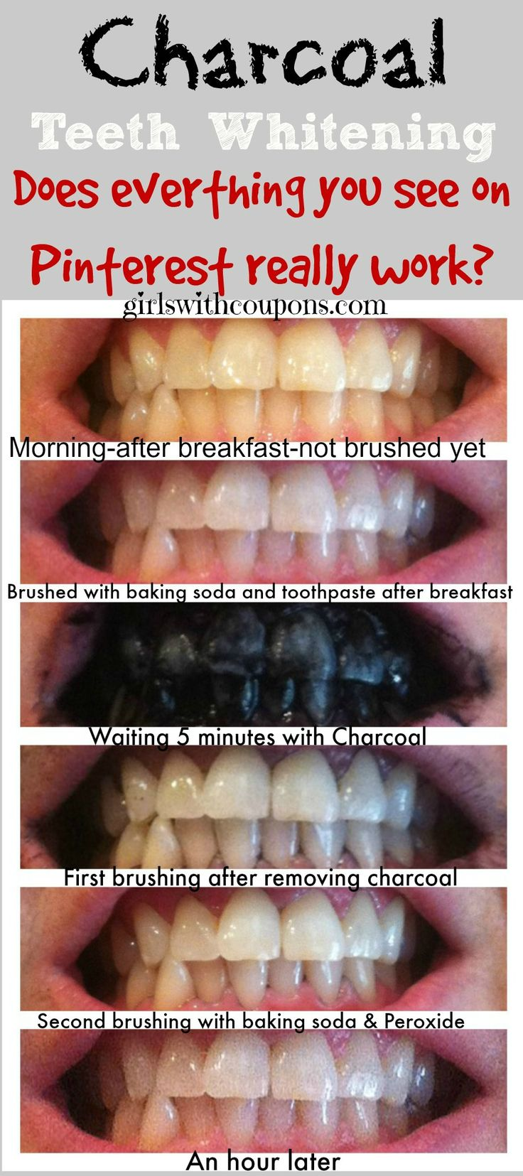 I saw a pin on my favorite site ever, Pinterest the other day. It was about whitening you teeth with charcoal. Not the kind you use in a BBQ grill but activated Charcoal in capsule form. I k...