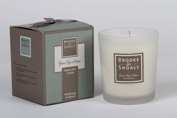 Green Fig Natural Soy Wax Candle from Brooke & shoals