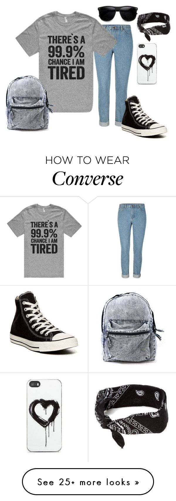 """99.9% chance"" by blackveilbridesbvbsixx on Polyvore featuring Converse, claire's and Zero Gravity"
