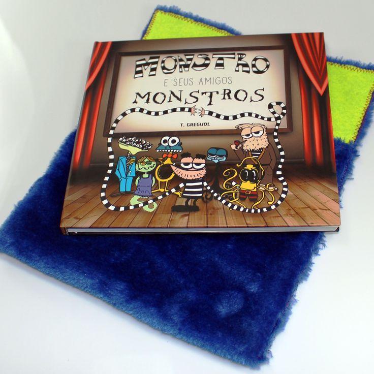 """""""Monstro e Seus Amigos Monstros"""" é um livro escrito, ilustrado e colorido por mim. Um livro sobre amizade, aceitação e monstros. É para o público infantil, mas duvido que algum adulto ache besta. Aproveite e veja as versões tridimensionais dos personagens!: http://bit.ly/1VgsQY3"""