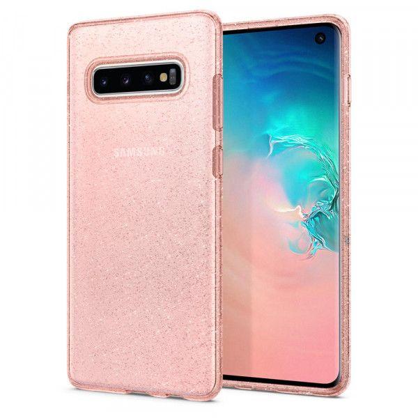 Spigen Samsung Galaxy S10 Plus Liquid Crystal Glitter Case Rose Quartz Capas De Celular Acessorios Para Celular Celulares