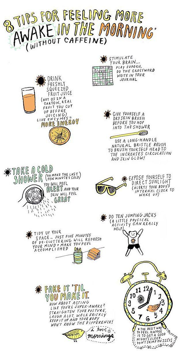 8 tips for feeling more awake in the morning