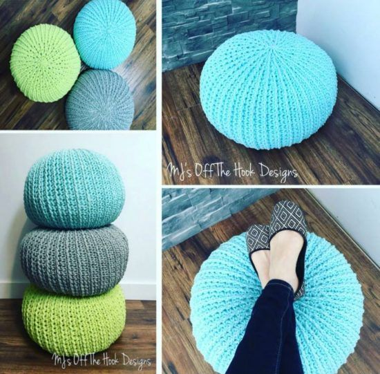 1000 ideas about crochet pouf on pinterest stool covers crochet pouf pattern and crochet - Crochet pouf ottoman pattern free ...