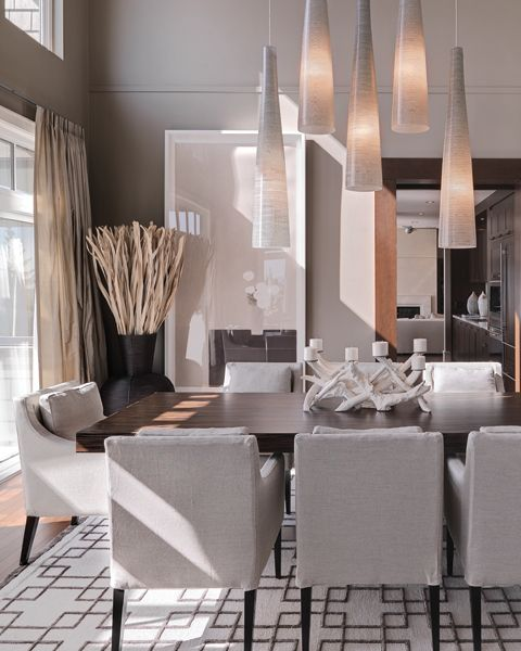 Contemporary Formal Dining Room In Pale Neutrals | INSIGHT Design    Vancouver Interior Design Firm