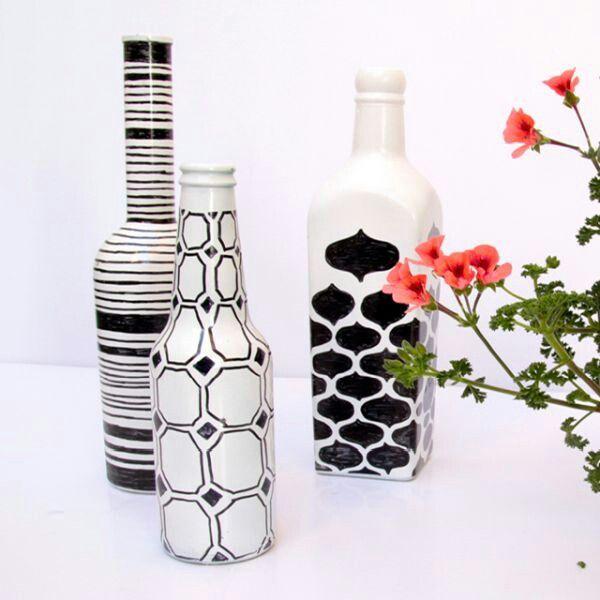 diy bottle art bottle art bouteille bricolage bouteille verre. Black Bedroom Furniture Sets. Home Design Ideas