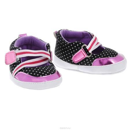 Luvable Friends Пинетки  — 624р. ------------------------------- Оригинальные детские пинетки для девочки Luvable Friends Фанни, стилизованные под туфельки - это легкая и удобная обувь для малышей. Удобная эластичная застежка на липучке, надежно фиксирующая пинетки на ножке малышки, мягкие, не сдавливающие ножку материалы делают модель практичной и популярной. Стопа оформлена прорезиненным рельефным рисунком, благодаря которому ребенок не будет скользить. Такие пинетки - отличное решение для…