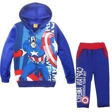 Kid Boy Captain AmericaHoodie Coat   Pants  Size 4-5  www.eagletradeeurope.com