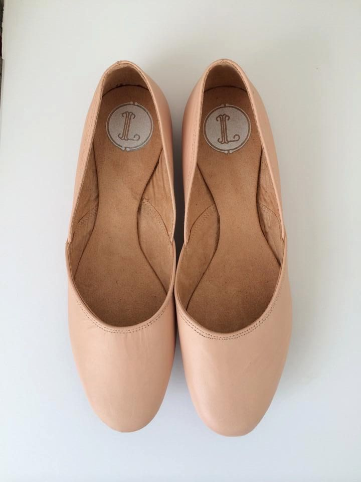 MAYA- Ballet Flats - Leather Shoes - 39- NUDE leather. - pinned by pin4etsy.com