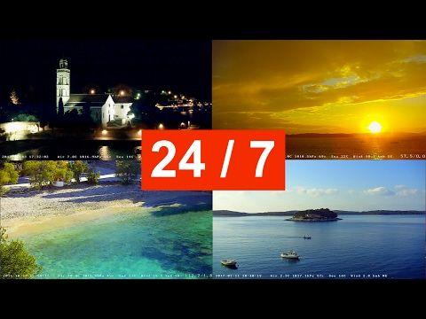 Поворотная веб-камера на острове Хвар, Хорватия