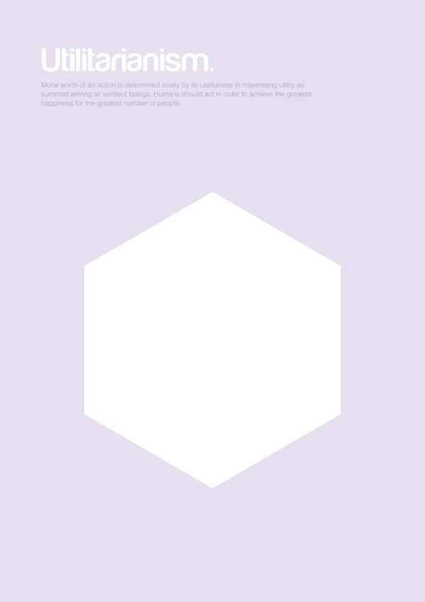 24 best impressive philosophy posters by genis carreras for Minimalist architecture theory