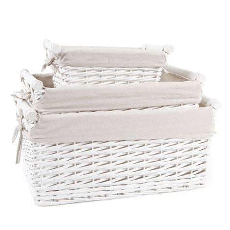 Wicker Basket with Bow - Baskets - Bathroom   Zara Home United Kingdom