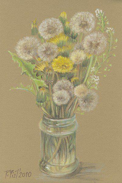 Yellow flowers by Przemila Koscielna