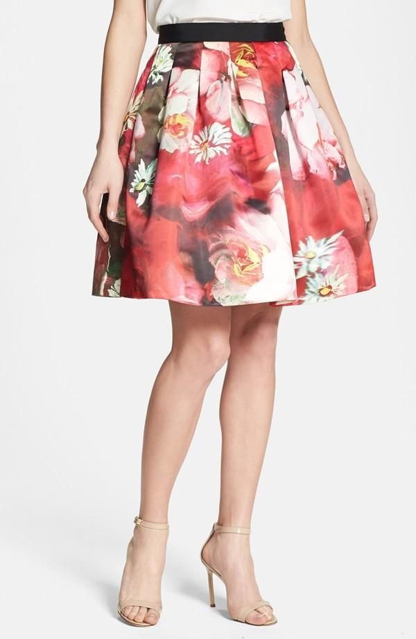 It's time for the flowers to bloom! Love this floral print skirt by Ted Baker.