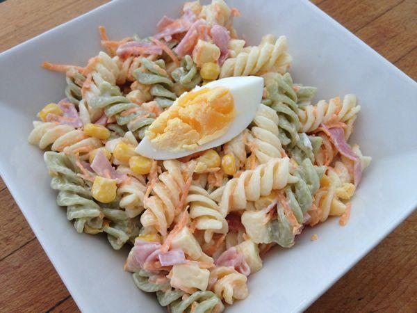ensalada de pasta fresca y sencilla comidas