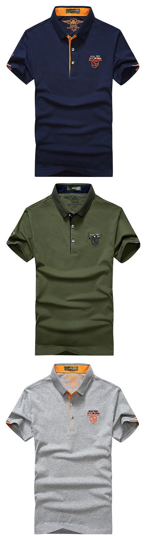 Mens Solid Color Polo Shirt Turndown Collar Short Sleeve Spring Summer Casual Tops