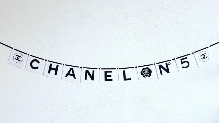 Custom Banner. Chanel Party Decorations di modernkub su Etsy