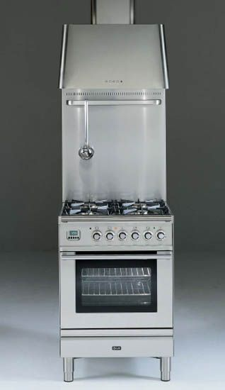 stainless steel kitchen stoves for small kitchens in retro styles