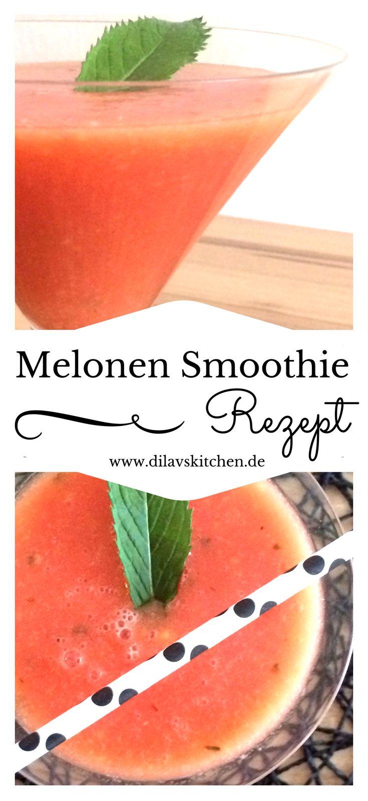 Erfrischend, gesund und lecker - Wassermelonen sind einfach die absoluten Stars des Sommers. Hol dir jetzt das Rezepte für diesen fruchtigen Melonen Smoothie mit frischer Mojito Minze auf www.dilavskitchen.de