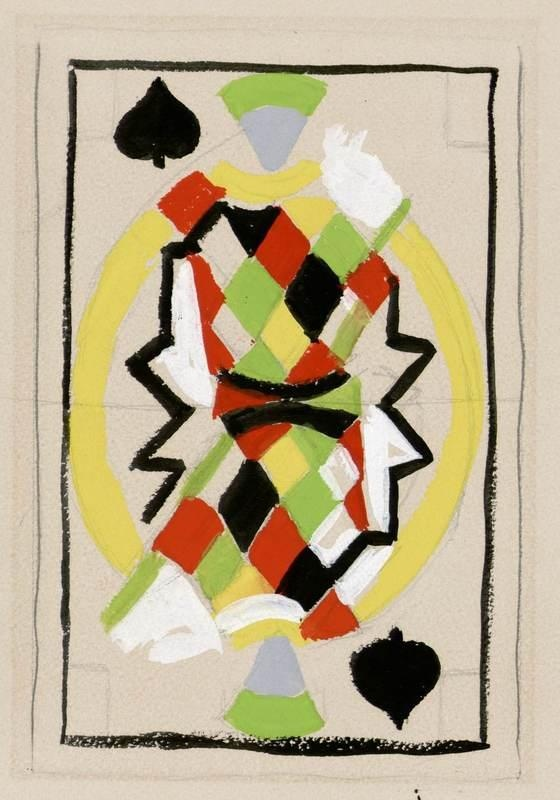 ¤ Valet de pique / Sonia Delaunay / France, 1960 Playing card design by Sonia Delaunay.